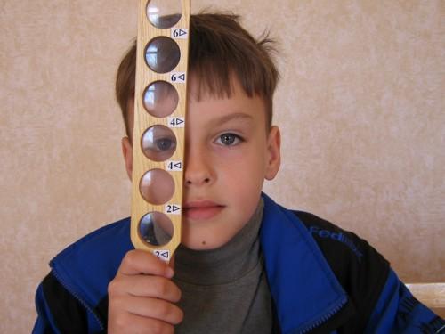 Апаратне лікування зору - лінійка коваленко